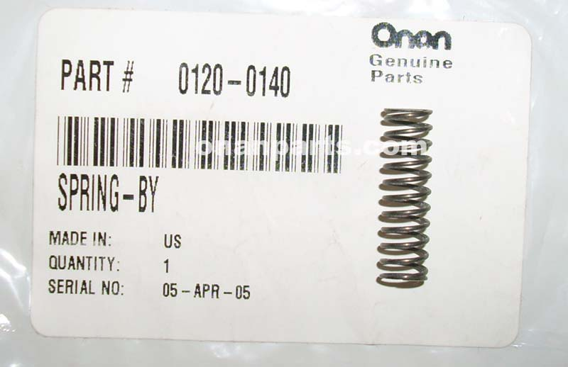 Onan 120-0140 Oil By Pass Spring CCK, B, P & N Series