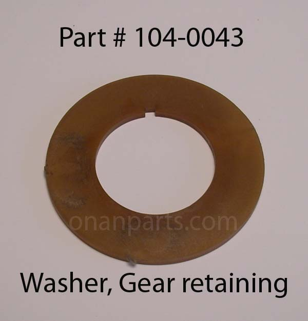 104-0043 Used Washer, Gear Retaining. CCK B P & N Series